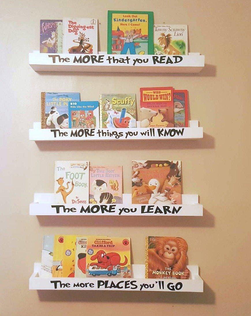 Dr Seuss Floating Book Shelves