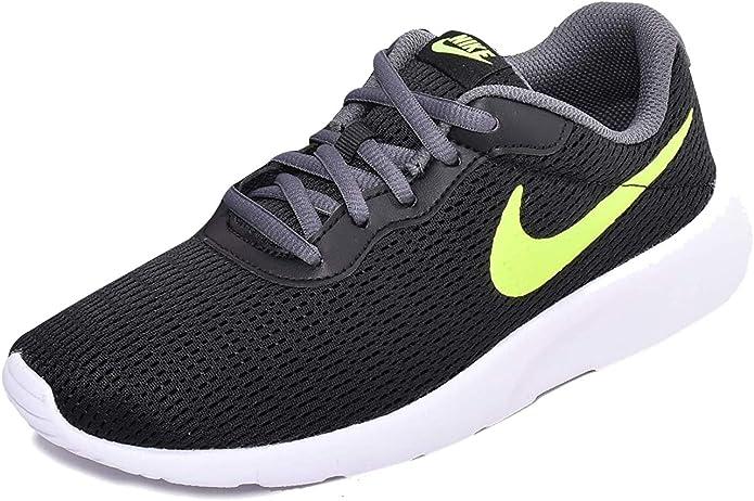 Nike Tanjun Sneakers Laufschuhe Herren Schwarz mit gelben Streifen
