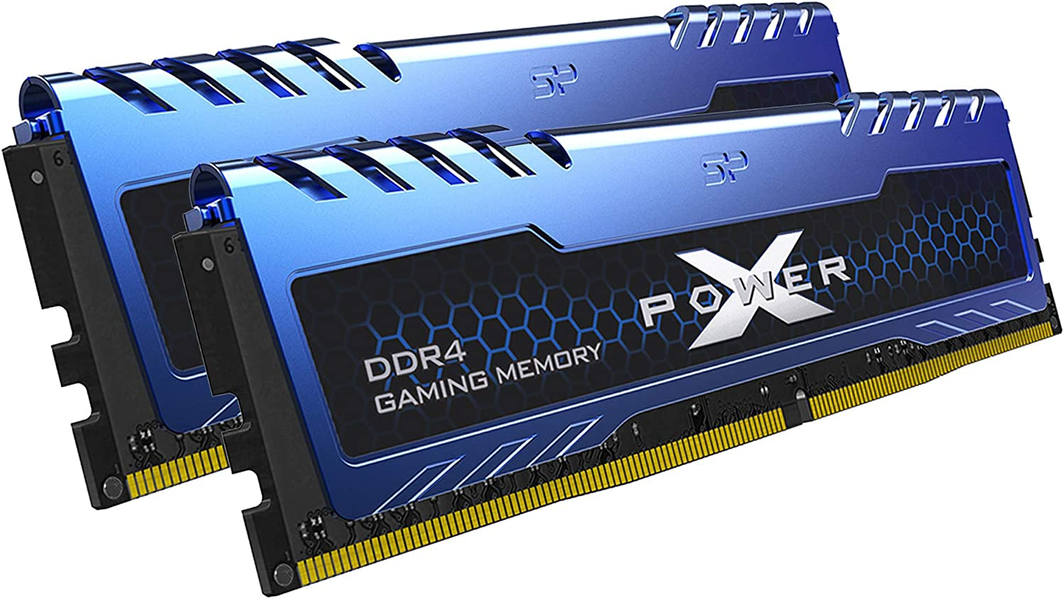 Silicon Power XPOWER Turbine Gaming DDR4 16GB (8GBx2) 3200MHz (PC4 25600) 288-pin CL16 1.35V UDIMM Desktop Memory Module - Low Voltage (SP016GXLZU320BDA)