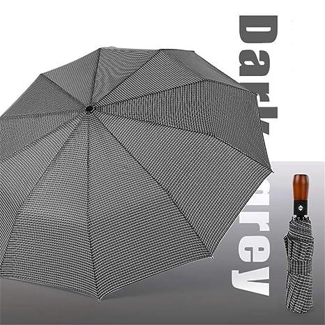 75fa3b722653 Amazon.com: Youtree Folding Umbrella Windproof, Solid Wood Stripes ...