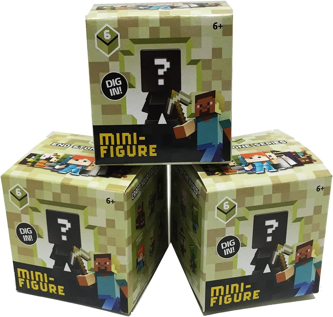 Minecraft End Stone Series 6 Blind Box Set of 2 Mini Figures