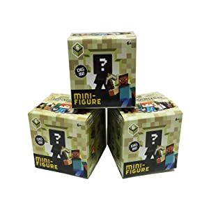 Minecraft End Stone Series 6 Mini Figure Mystery Pack (Bundle of 3 Packs)