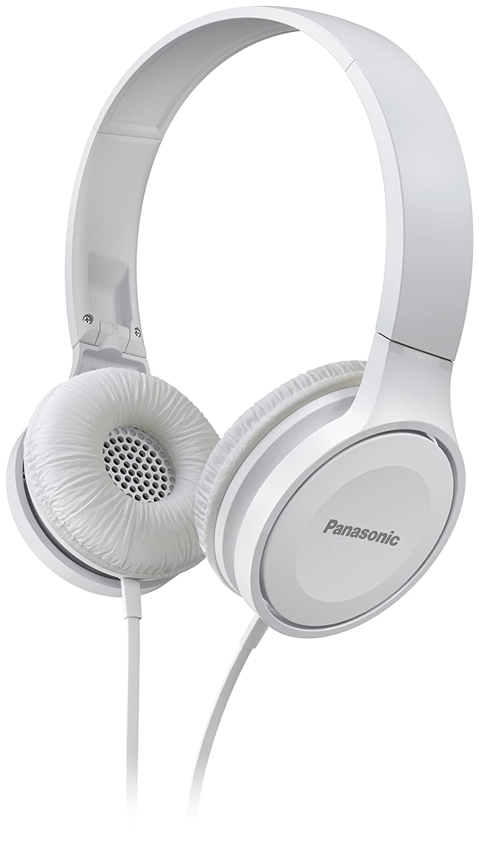 Headset, 10-23.000 Hz, 30 mm Wandler, kompakt zusammenfaltbar Panasonic RP-HF100ME-W On Ear Kopfh/örer wei/ß