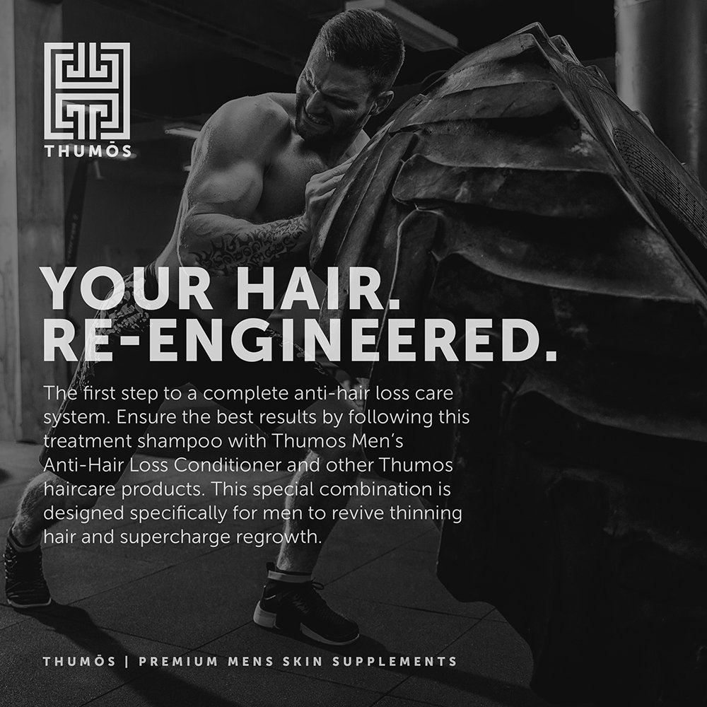 Male Hair Loss Shampoo for Men – Hair Thickening Shampoo Stimulates & Invigorates Hair Follicles to Promote Thicker, Fuller Growth by Thumos by Thumos (Image #4)