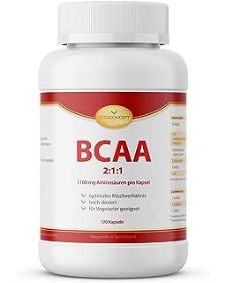 VITACONCEPT BCAA 2:1:1 - 120 cápsulas grandes de AACR - 1100 mg