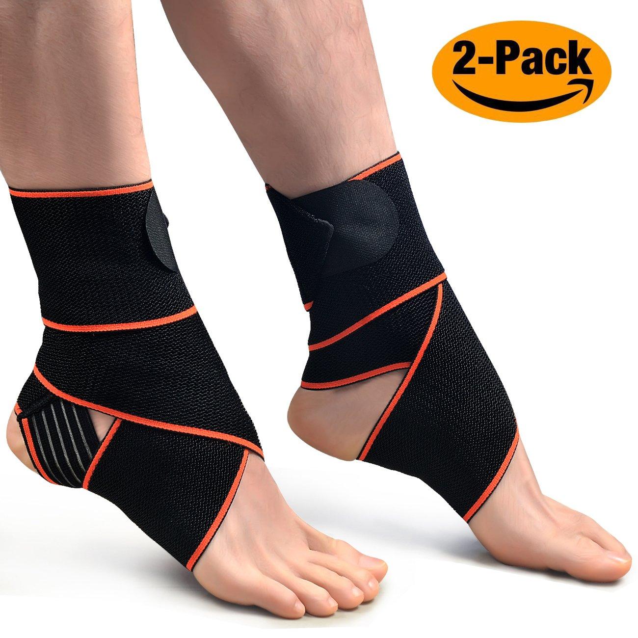 1paire Chevillère, Oxyland réglable support de cheville Super élastique et confortable Idéal pour les sportifs de compression, protège contre les Chroniques Cheville la fatigue, les en