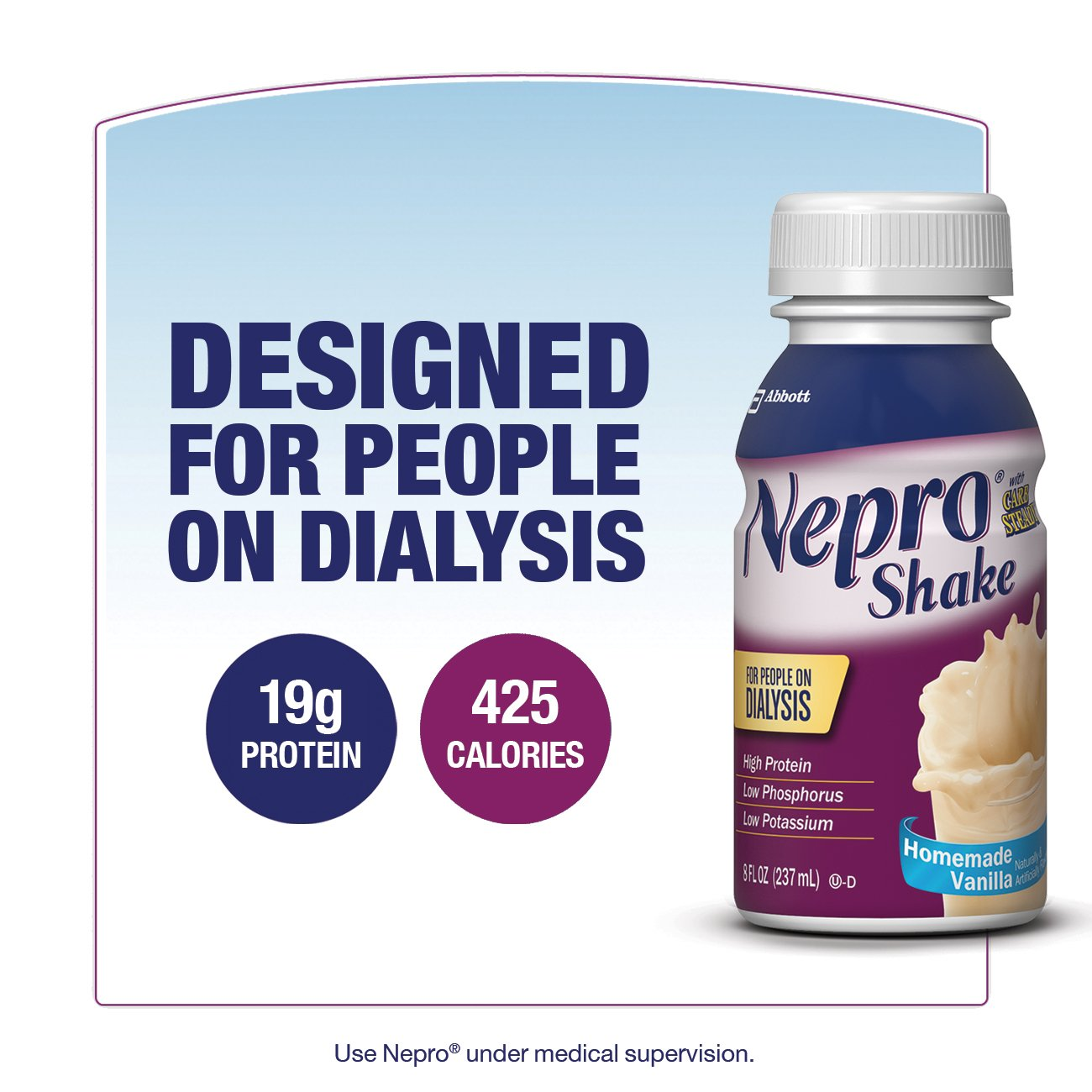 Nepro Therapeutic Nutrition Shake, Vanilla, 8 Ounce (Pack of 16) by Nepro (Image #4)