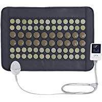 """UTK® Far Infrared Natural Jade and Tourmaline Heating Pad Mat for Pain Relief Small Pro (23.5""""X16"""") with Smart Controller Memory Function Auto Shut Off Timing Setting [US FDA] Travel Bag Included"""