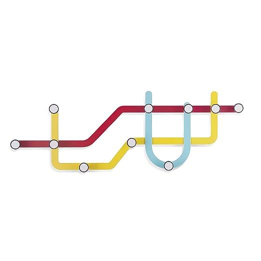 Umbra 318187-370 Subway - Perchero múltiple, Multicolor