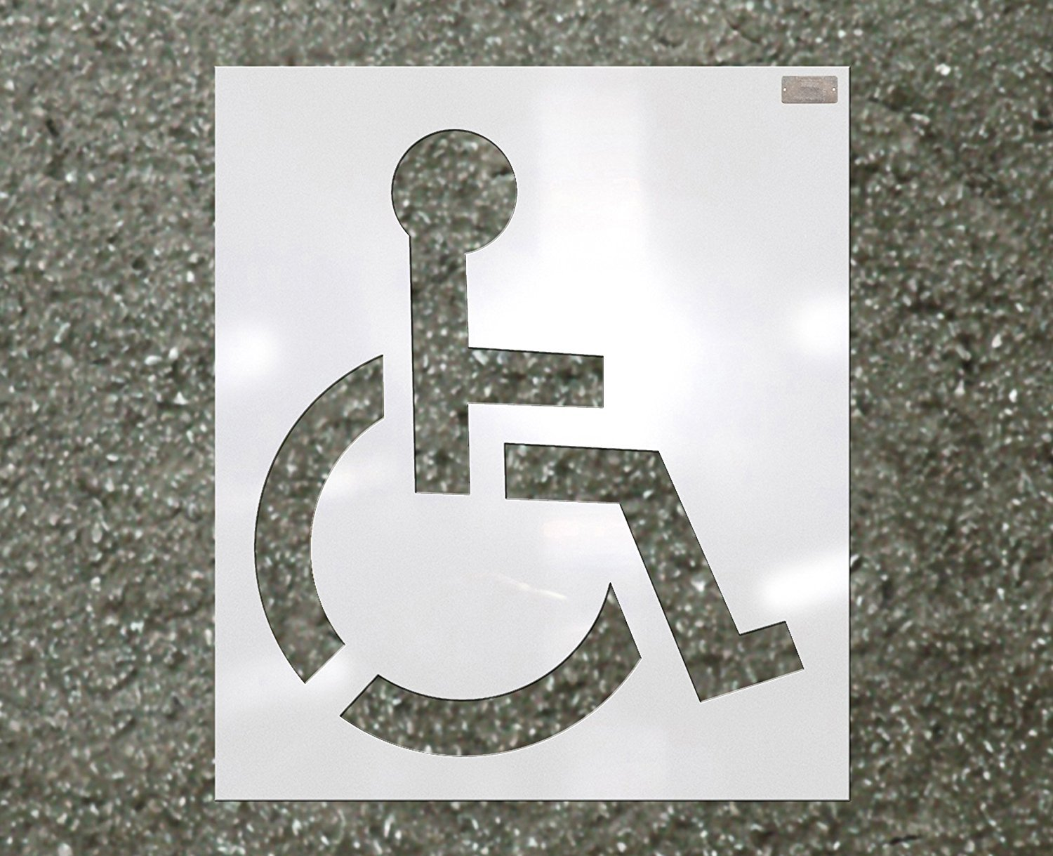 39'' HANDICAP Stencil, 1/16'' Plastic for use in Parking lot and roadway painting and striping by 1-800-Stencil