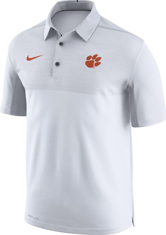 Nike Hombres de Clemson Tigers Elite fútbol diseño Blanco Polo ...