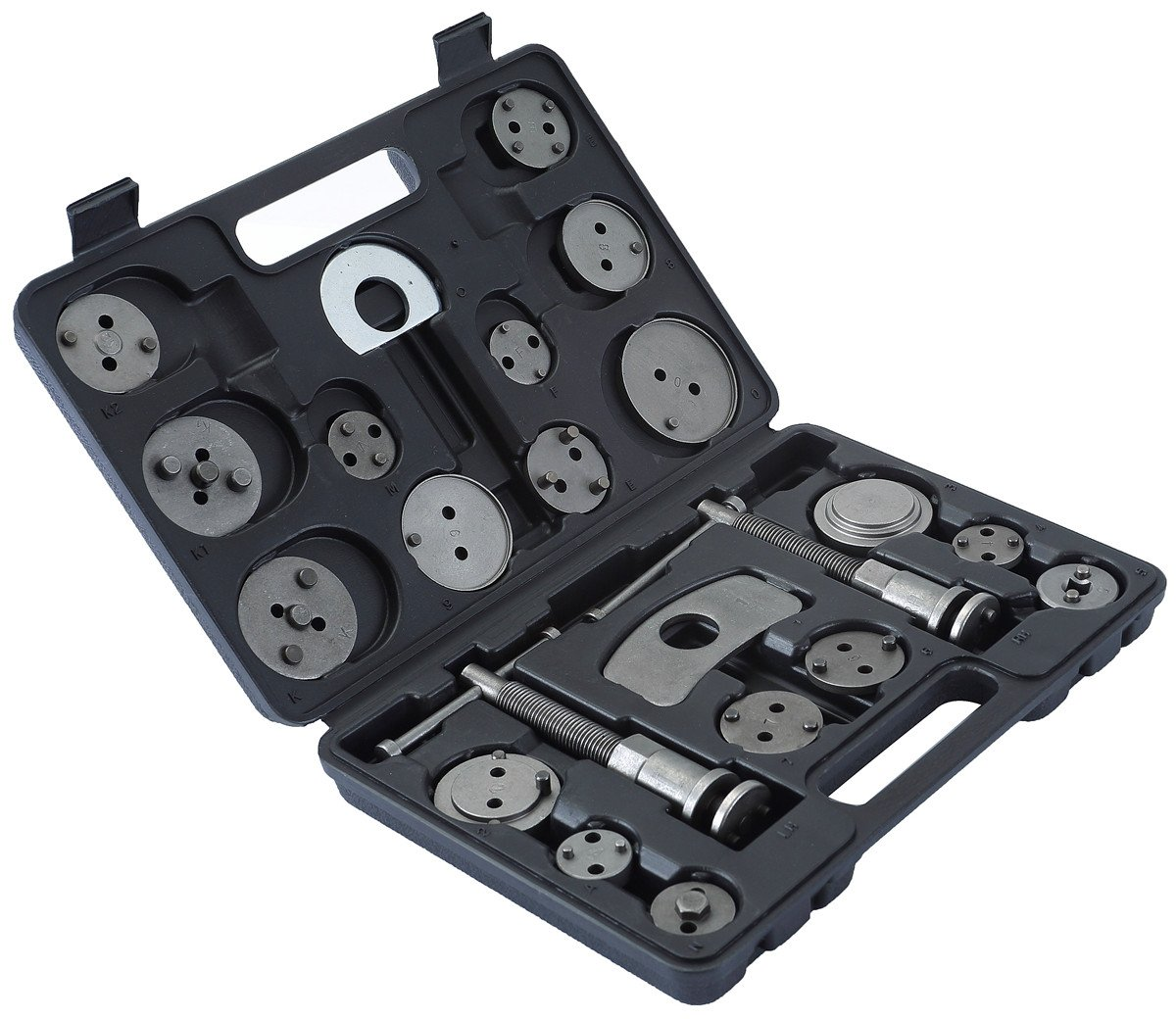 ATP 23pcs Heavy Duty Disc Brake Caliper Tool Set and Wind Back Kit for Brake Pad Replacement Fits Most American, European, Japanese Makes/Models