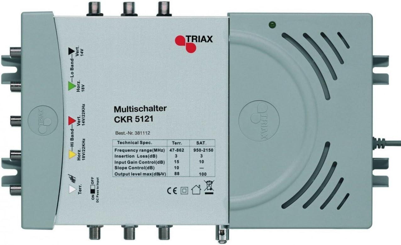 Triax Ckr 5081 Schaltnetzteil 4 Sat 1 Terr Eingang 8 Fach Weiß Heimkino Tv Video