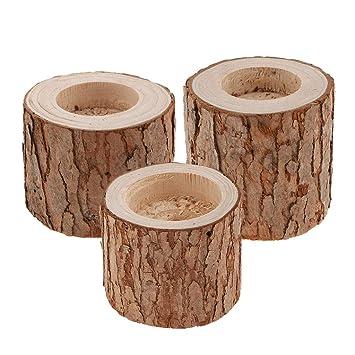 Amazon.com: Fityle - Juego de 3 portavelas para velas de té ...