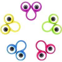 Jovitec 48 Pieces Googly Eye Finger Puppets Wiggly Eyeball Finger Puppet Rings Eye Finger Toy for Kids Party Favor, 5 Colors