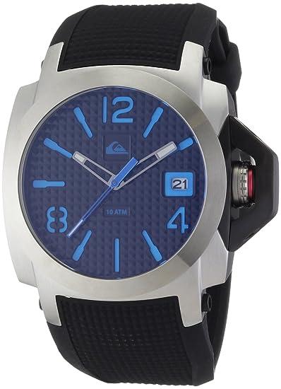 Quiksilver M148JR 12T - Reloj analógico de caballero de cuarzo con correa de plástico azul: Amazon.es: Relojes