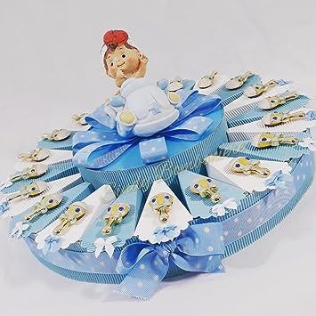 Torte Gastgeschenk Für Taufe Geburt Rassel Magnet Junge Mit