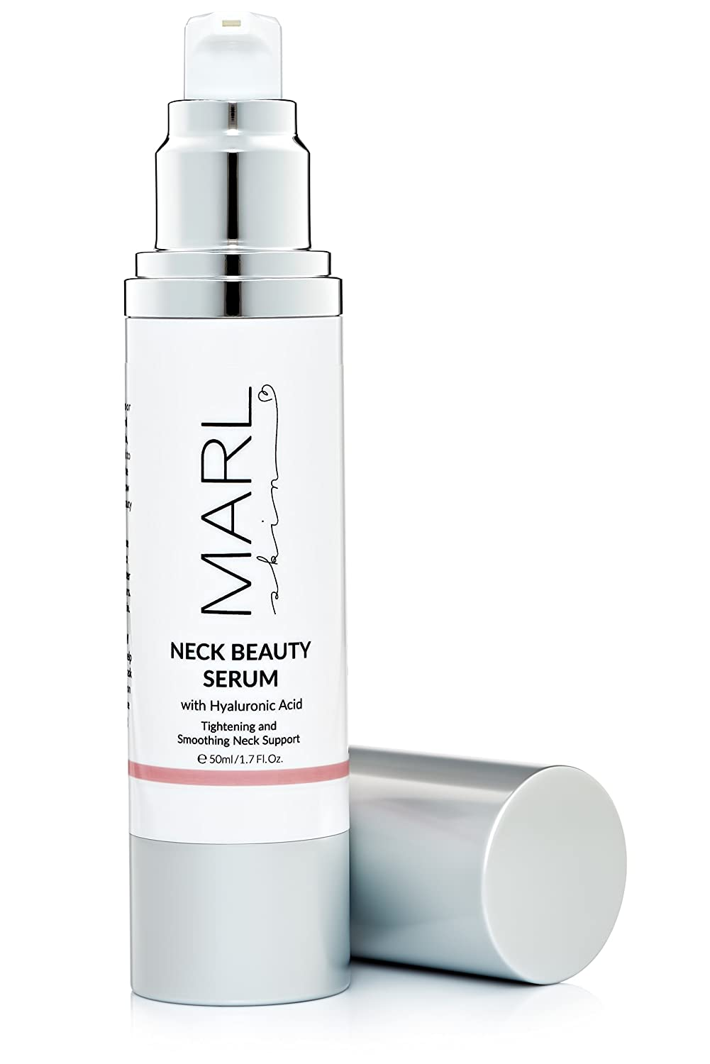 Neck Firming Serum by MARLskin   Anti Aging, Anti Wrinkle with Hyaluronic Acid – Tightens, Lifts, Smoothes, Hydrates – Neck and Decollete – 50 ml AAM-60ml