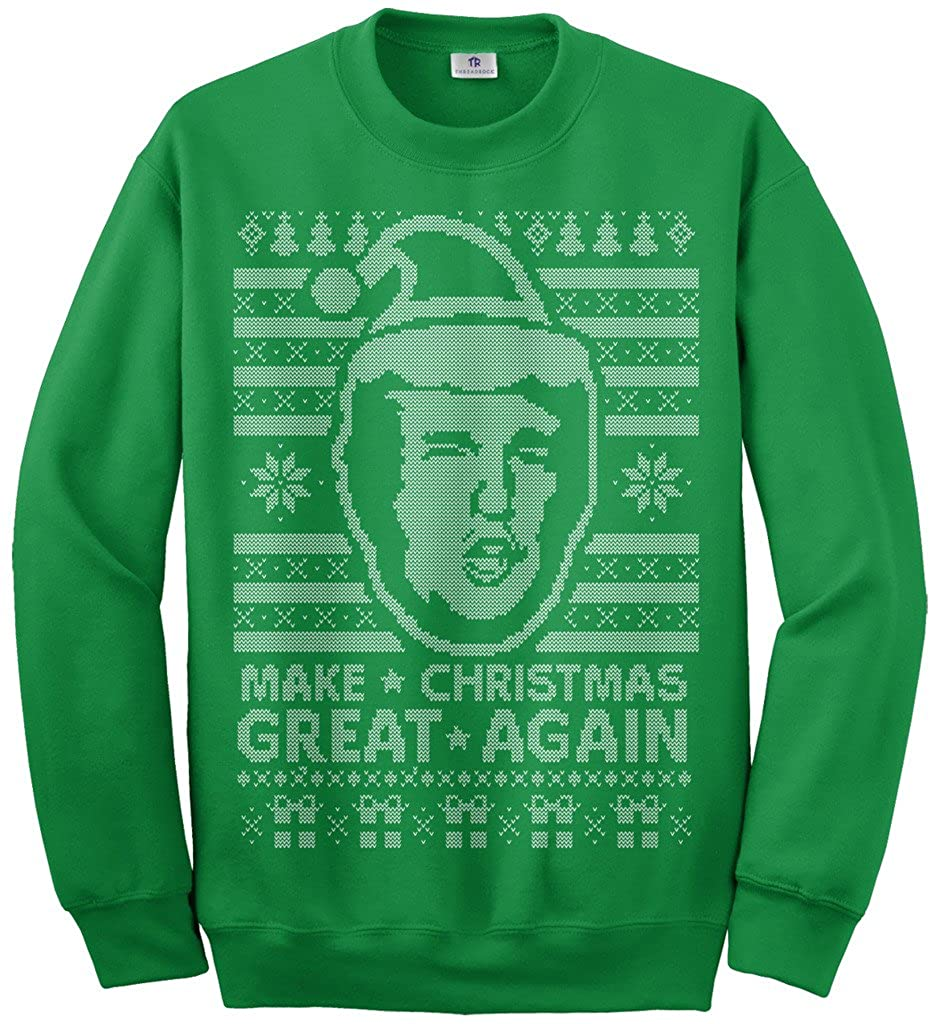 Threadrock Kids Trump Make Christmas Great Again Ugly Sweater Youth Sweatshirt TA00391-Y21