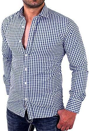 YKARITIANNA 2019 camisa de vestir a cuadros con botones a ...