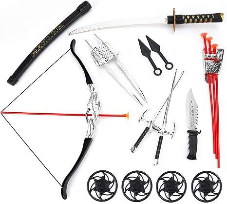 Amazon.com: Juego de guerrero ninja con de arco y flecha ...