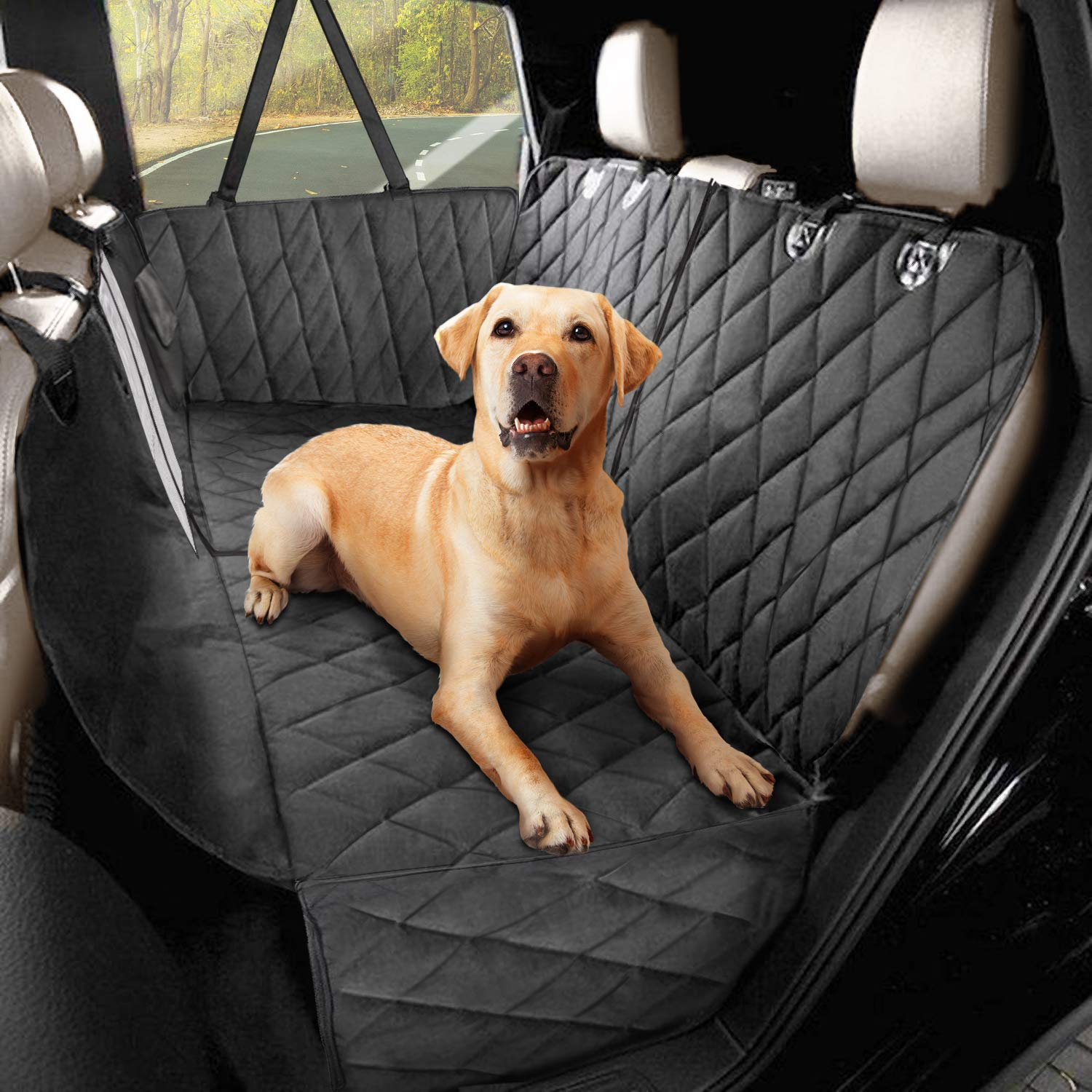 universal for any car padded cover with side protectors 165 * 142 * 50 cm smartpeas Dog car seat cover XXL robust material also for car trunks detachable