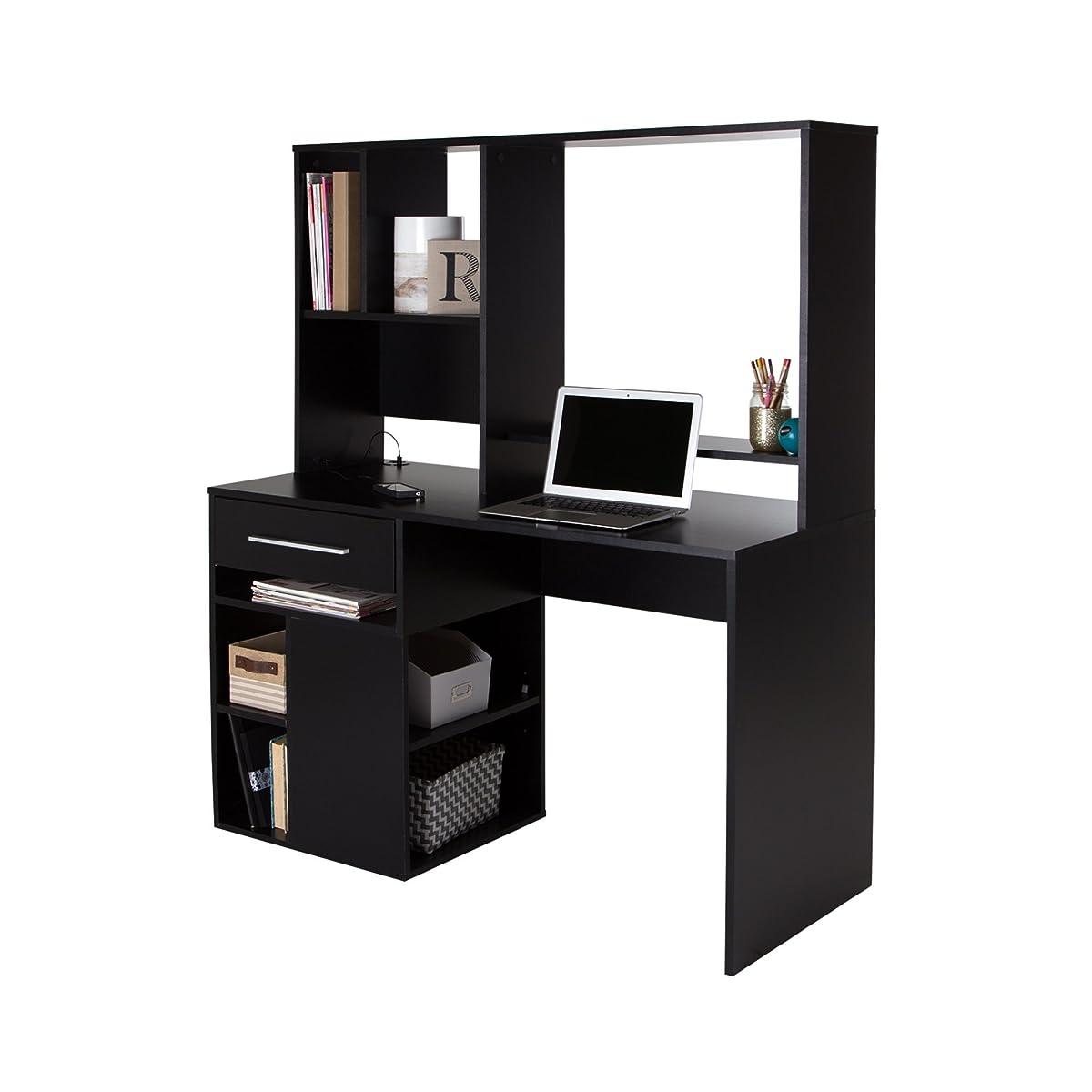 South Shore Annexe Home Office Computer Desk, Pure Black