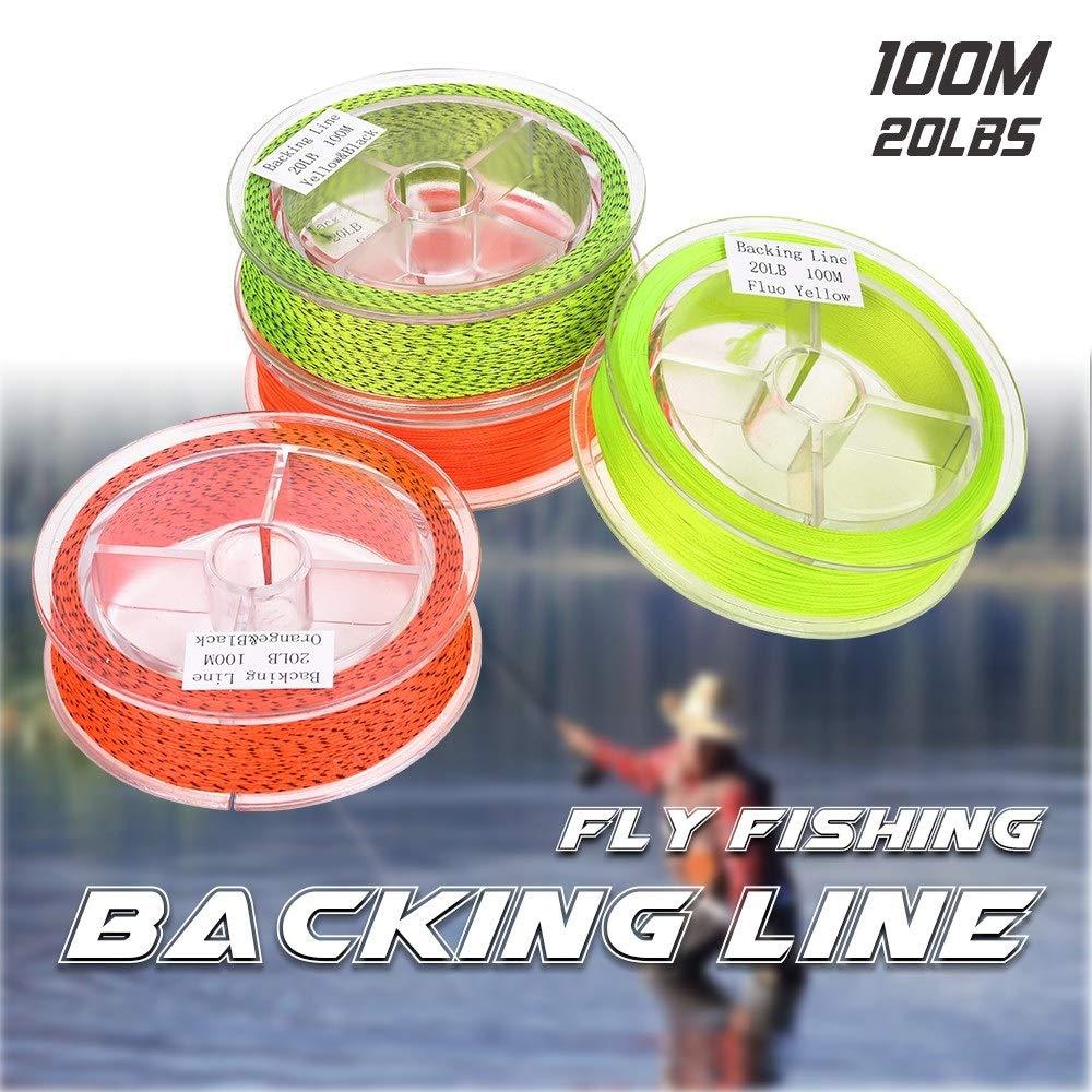 Yangyme Geflochtene Angelschnur Geflochtene Nylon Fliegenschnur Fliegenfischen Backing Line 100M