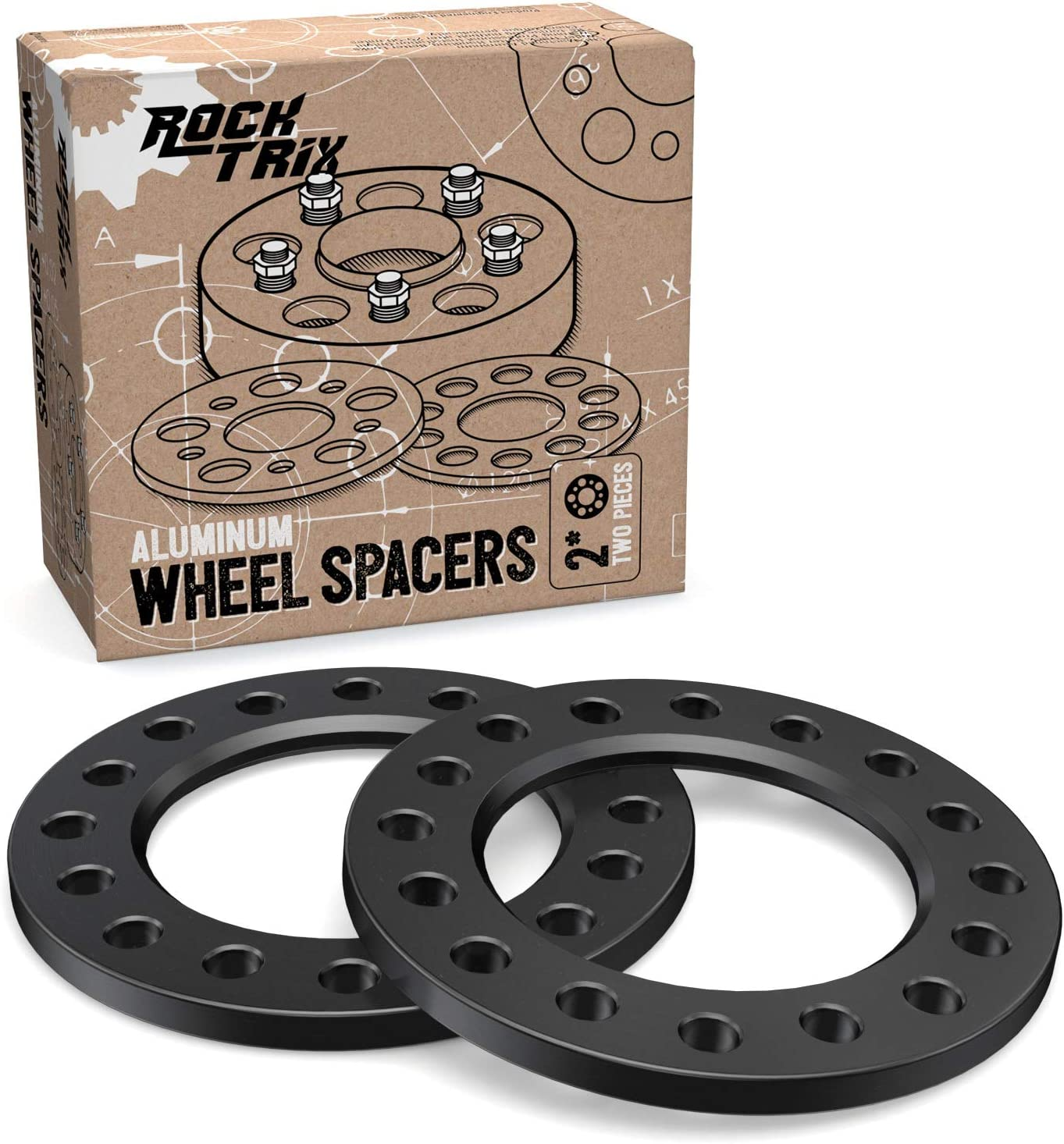 See Description for Specific Year /& Models RockTrix for Precision European Fits many 8-lug Chevy Ford GMC Hummer Dodge - 8x165.1 8x170 Adapters Precision European Motorwerks 8x170 /& 8x6.5 Flat Wheel Spacers 4pc 1//2 Thick