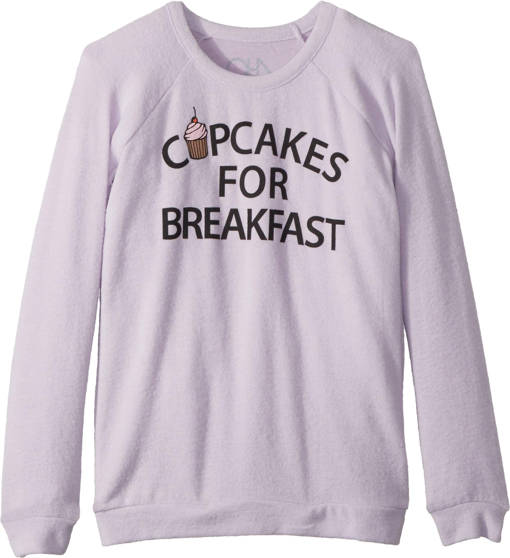 Chaser Kids Girl's Super Soft Love Knit Cupcakes Breakfast Pullover (Little Kids/Big Kids) Posy 12