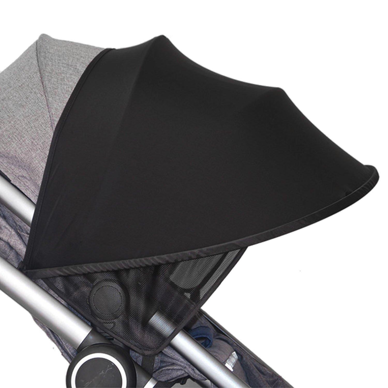 Schwarz Sonne Schatten Kapuze Bezug f/ür Baby Wagons in Kinderwagen Kinderwagen Autositz mit gro/ßer UV-Schutz Performance