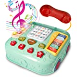 HOMCENT Baby Musical Toys, Toddlers Pretend Phone Call with Light Up Piano Keyboard Preschool Learning & Education Games, Mul