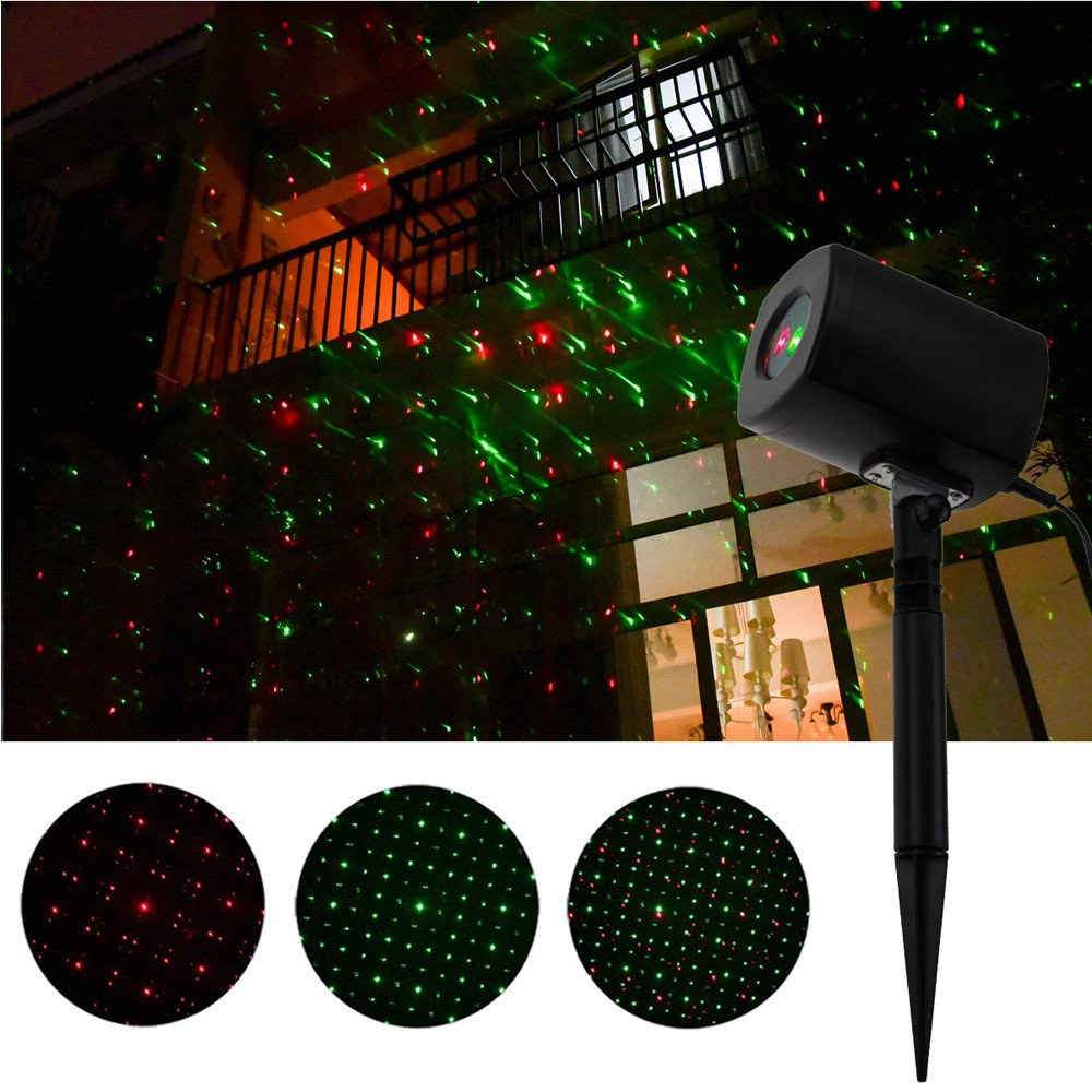 Autoday LED Laser Lights Outdoor Indoor Waterproof Red & Green Landscape Lights for Dancing KTV Bar Birthday Outdoor Party Club Pub Karaoke Disco Wedding (Ship From US) (Spot)