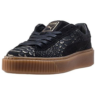 puma platform exotic skin schwarz