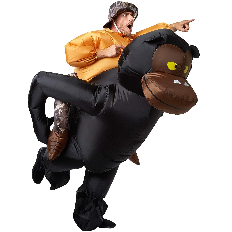 Dressforfun 302352 - Costume Unisex Adulti Costume Carry Me - Grande Cacciatore, Inclusi Vestito e di Un Berretto