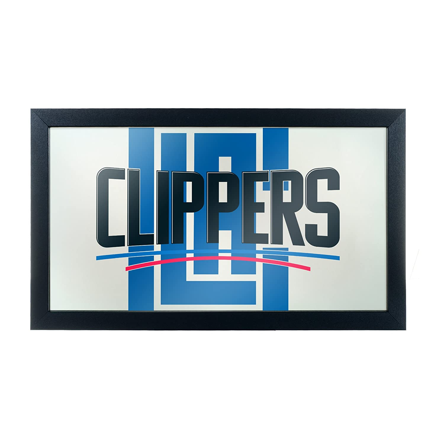 Los Angeles Clippers Trademark Gameroom NBA1500-LAC2 NBA Framed Logo Mirror Fade