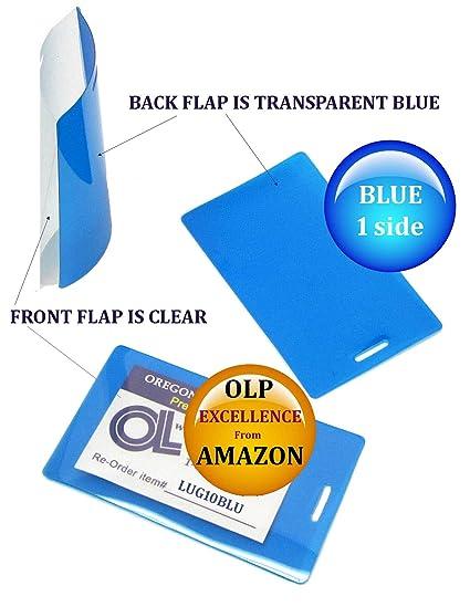 QTY 2500 azul/claro Etiqueta para equipaje para plastificar ...