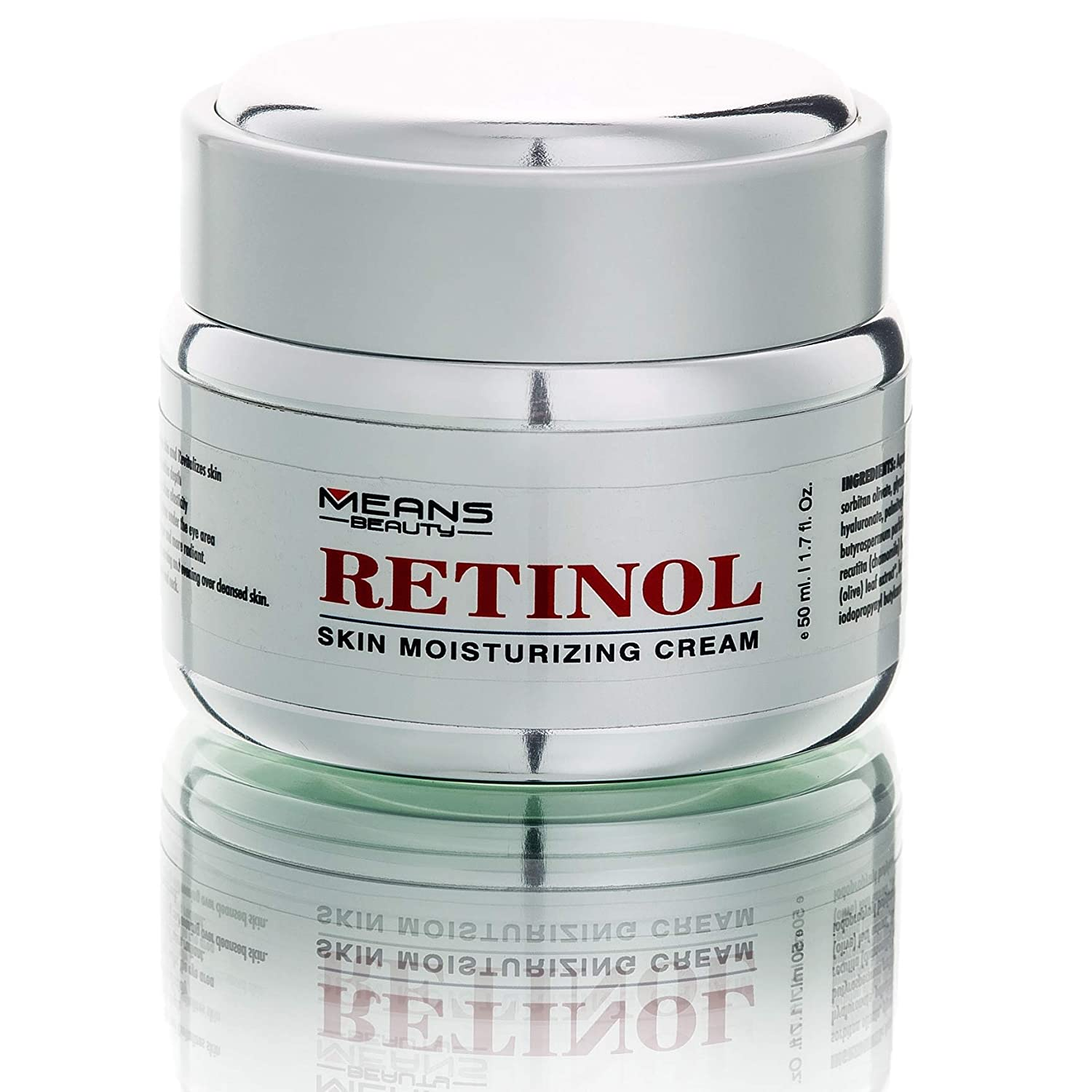Retinol Cream For Face, Neck, Décolleté And Eye Area For Men And Woman W/Hyaluronic Acid, Vitamin E, Green Tea, Fights The Appearance Of Wrinkles, First Results in 5 Weeks,Made in Canada, Best Formula to Reduce Wrinkles, Puffy Eyes And Dark Circle