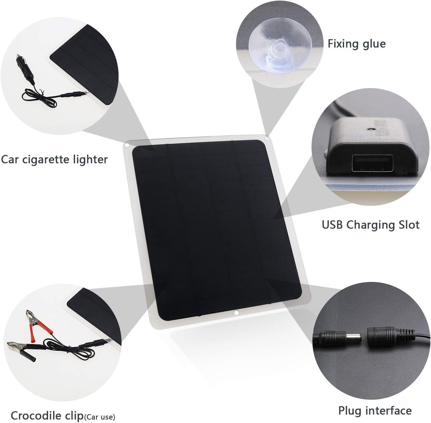 BIYM Kit Chargeur de Batterie de Panneau Solaire Voiture 12V 20W Remplacement
