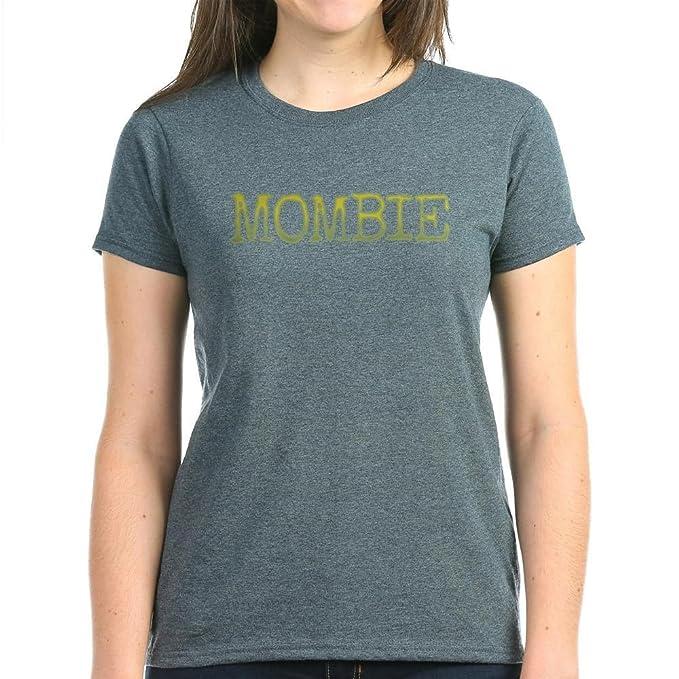 5a7d6474 Amazon.com: CafePress - Mombie T-Shirt - Womens Cotton T-Shirt Black ...