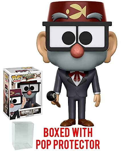 Funko Pop! Animation: Gravity Falls - Grunkle Stan Vinyl Figure (Bundled  with Pop BOX PROTECTOR CASE)