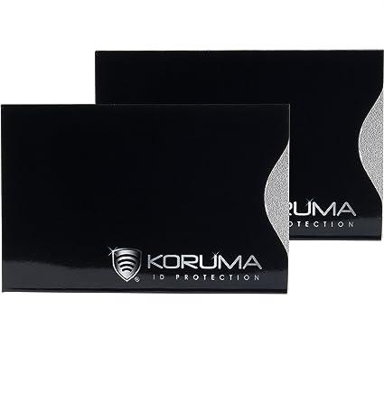 2f5301fb3b2c03 KORUMA Carta di credito Protector - verticale blocco RFID contactless porta  carte - Confezione da 2 kuk-70vbls di copertura protezione: Amazon.it: ...