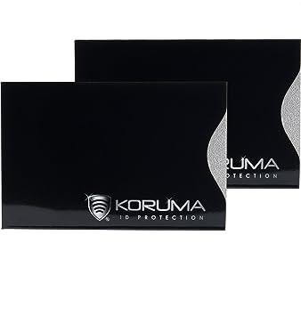 site autorisé charme de coût haute couture KORUMA Étui protége des Cartes de crédit, débit bloquant Les ...