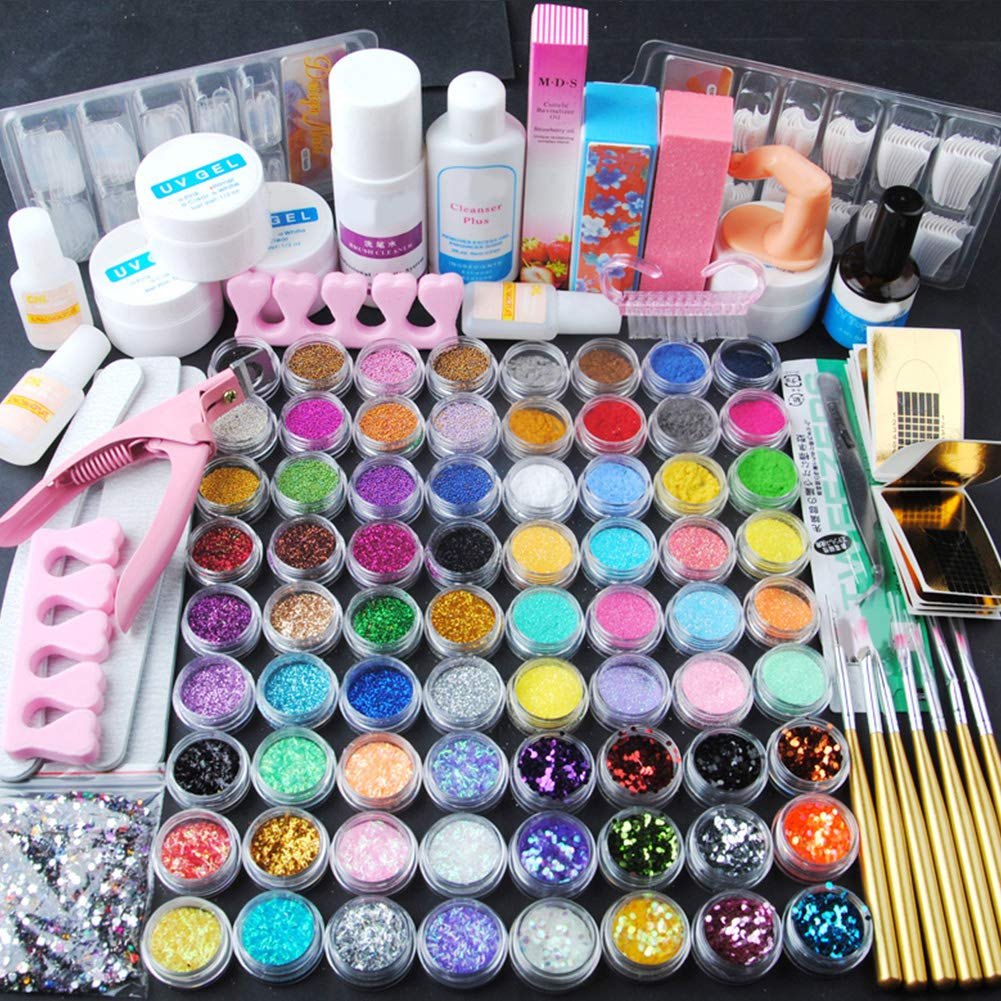 Coscelia Manicure Kit Nail Tips False Nails Nail Art Acrylic Powder Glitter Decoration Set FASHION GALLERY