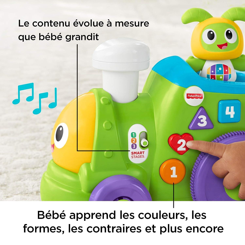 FXH93 Fisher-Price le Train de Bebo et Ses Amis Robot Jouet Motoris/é 6 Mois et Plus /Éveille B/éb/é en Musique