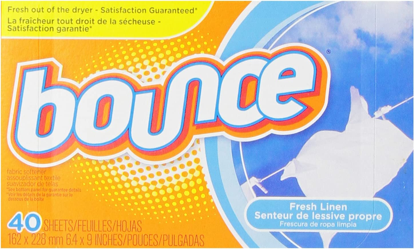 Bounce Fresh Linen Sheets, 40 Count by Bounce