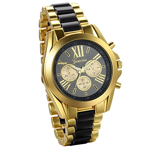JewelryWe Reloj de negocio Reloj de caballero número romano ...