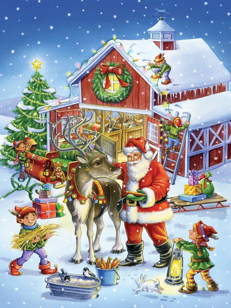 Rentier und und und Weihnachtsmann Jigsaw Puzzle 550 Teile 384f19