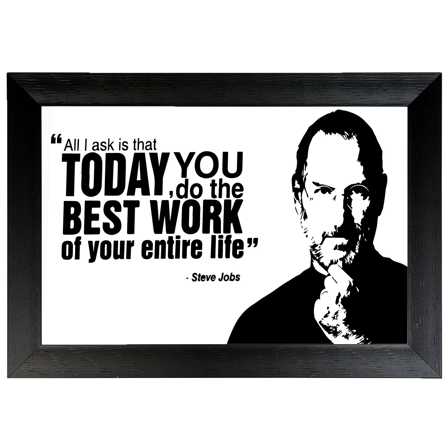 Motivational quote by Steve jobs Wall Frame Poster Quotes & Motivation ,(18X12) BY Vprint