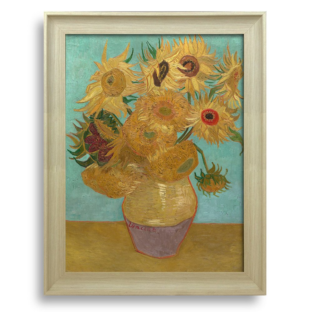 Sunflower By Vincent Van Gogh Framed Art Print Famous Painting Wall
